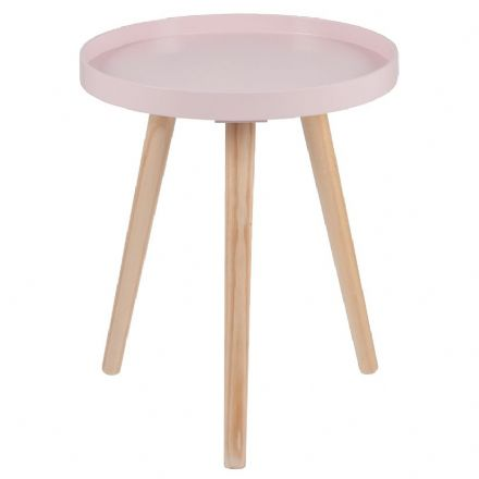 Pink Painted Side Table